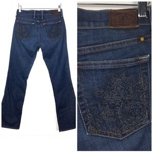 Lucky Brand Floral Embroidered Sweet N Low Jeans